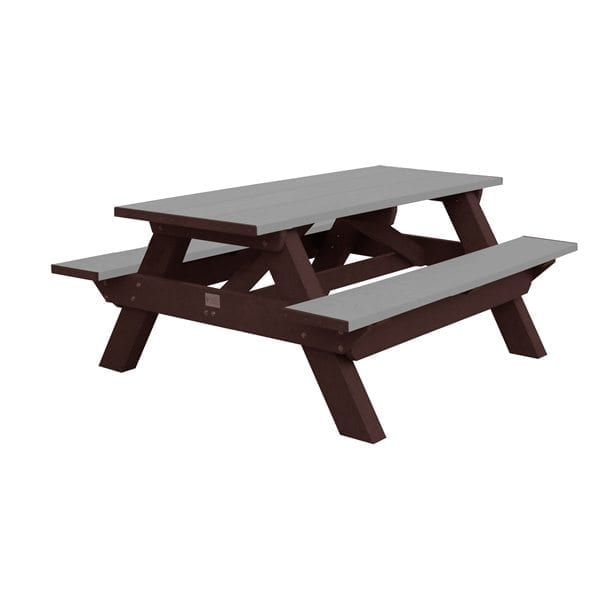 6' Standard Picnic Table Made From Recycled Plastic Materials