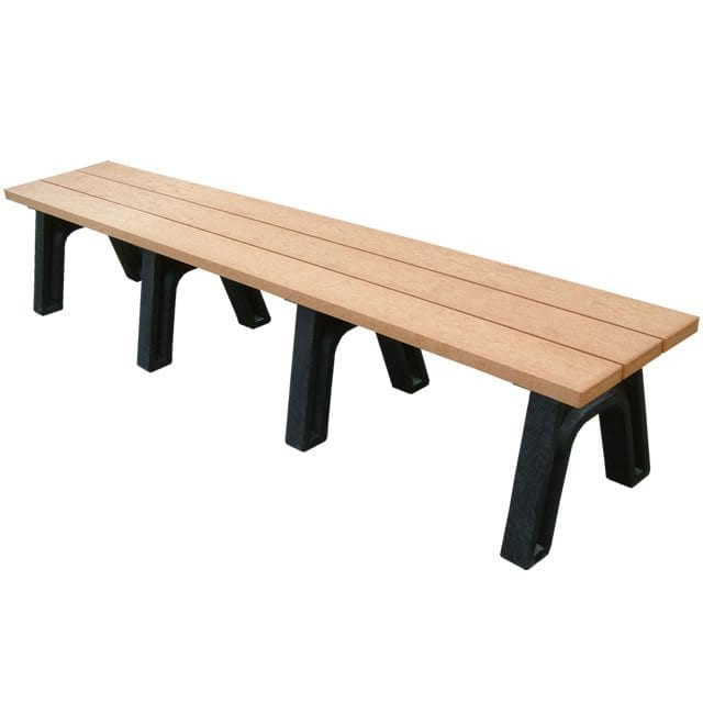 8' Standard Mall bench made from recycled plastic materials