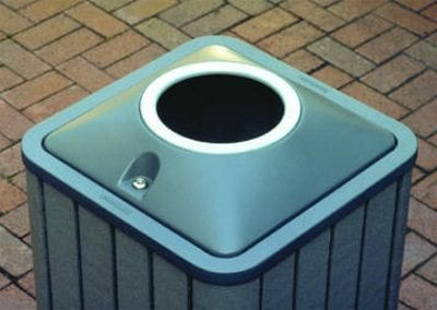Recycle Bin With Round Opening