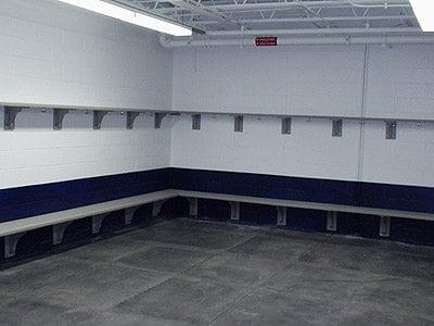 Locker Room Bench And Shelves