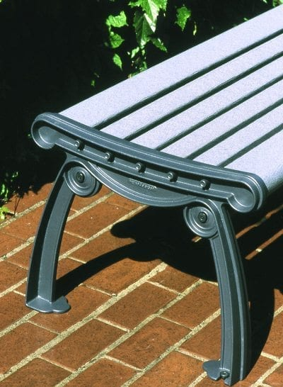 Side View Of End Of Victoria Bench
