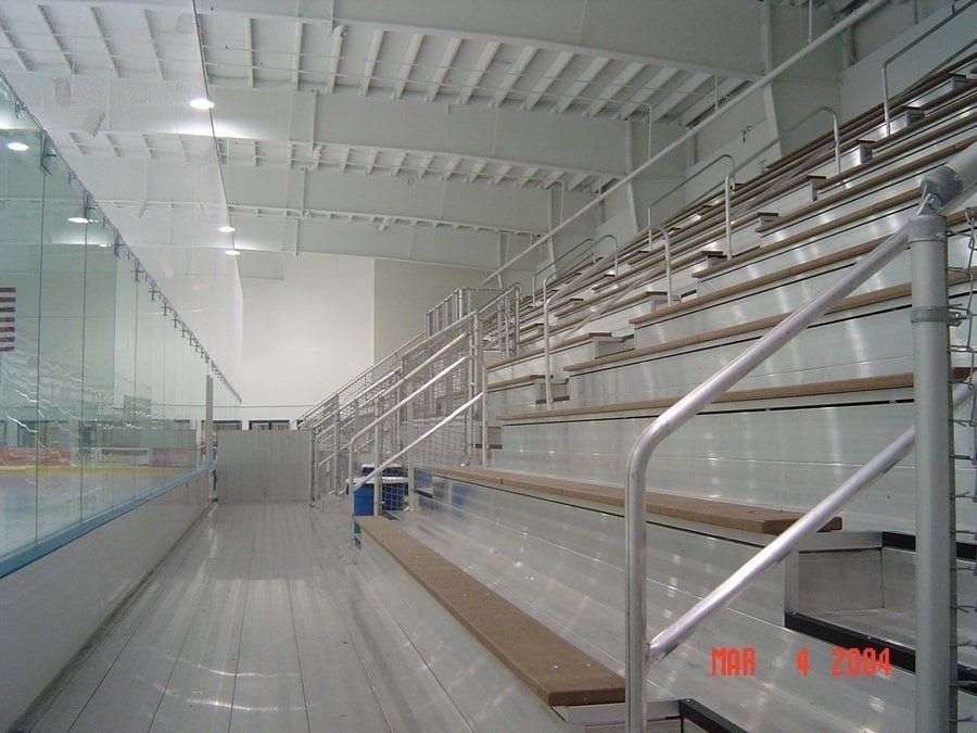 Aluminum Bleachers With Recycled Plastic Seating