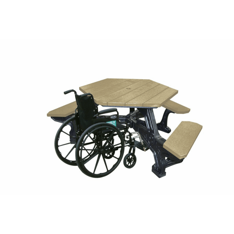 ADA-Accessible Plaza Hex Table