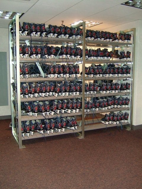 Ice Skate Storage System Shelves