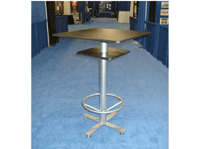 Square Bar-Style Pedestal Table