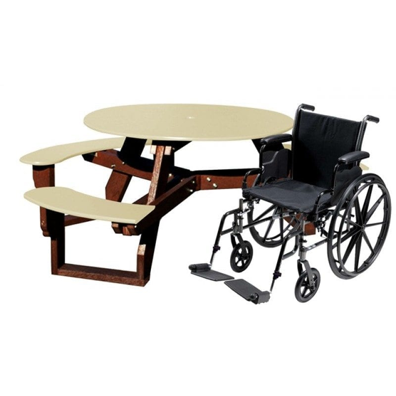 Round Table With Opening For Wheelchair