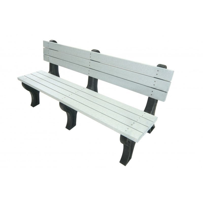 6 Foot Deluxe Park Bench Made From Recycled Plastic Materials