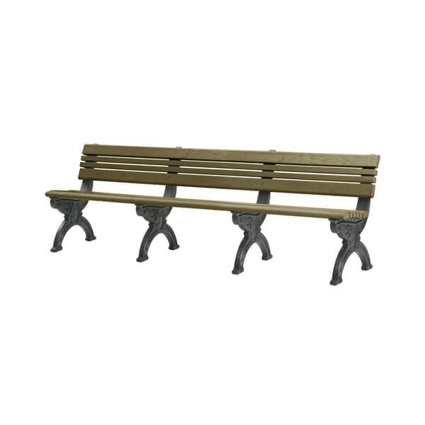 8 Foot Cambridge Bench Made From Recycled Plastic Material