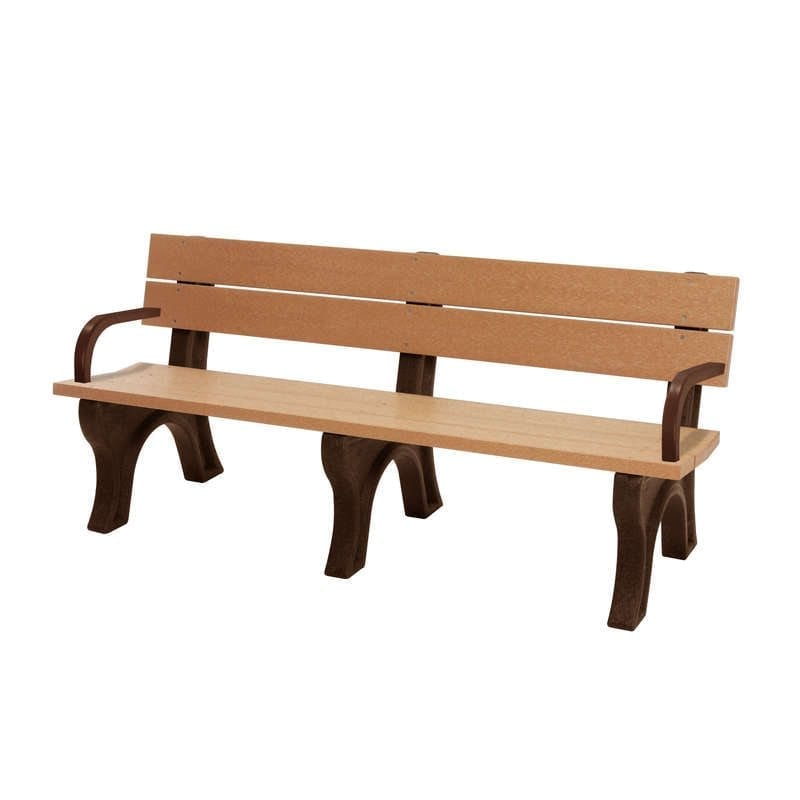 SPB600WA 6′ Standard Park Bench With Arms