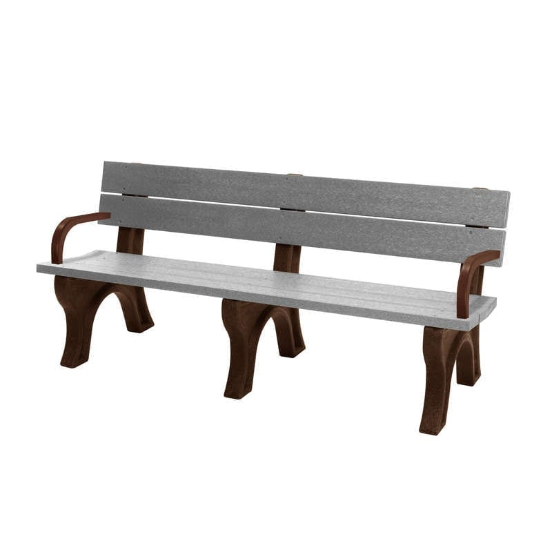 6 Foot Standard Bench Made With Recycled Plastic Materials