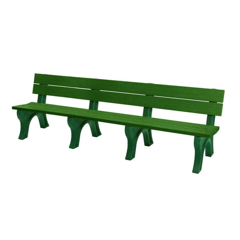 8 Foot Standard Park Bench Made From Recycled Plastic Materials