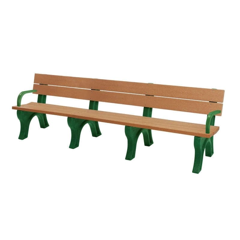 8 Foot Standard Bench Made With Recycled Plastic Materials