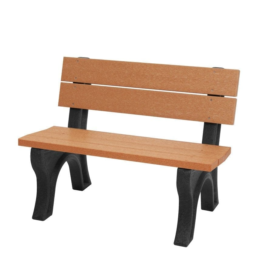 Park Bench Height Standard: SPB400 4′ Standard Park Bench