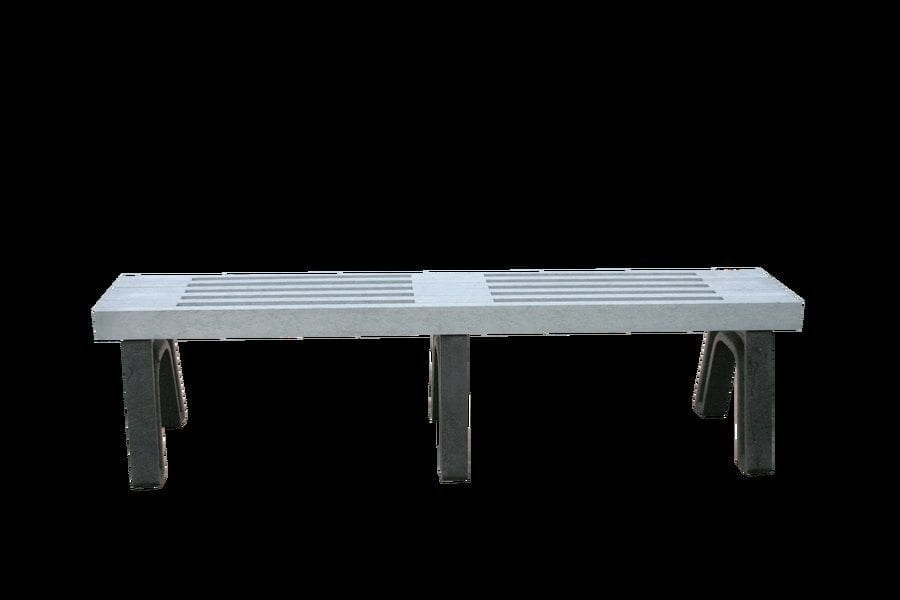 6 Foot Elite Mall Bench Made With Recycled Plastic Materials