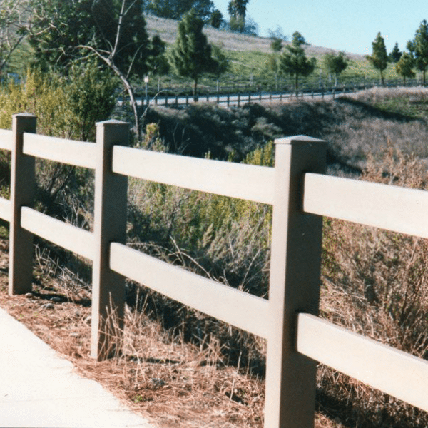 2-Rail Weathered Wood Fence