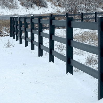 3-Rail Black Fencing
