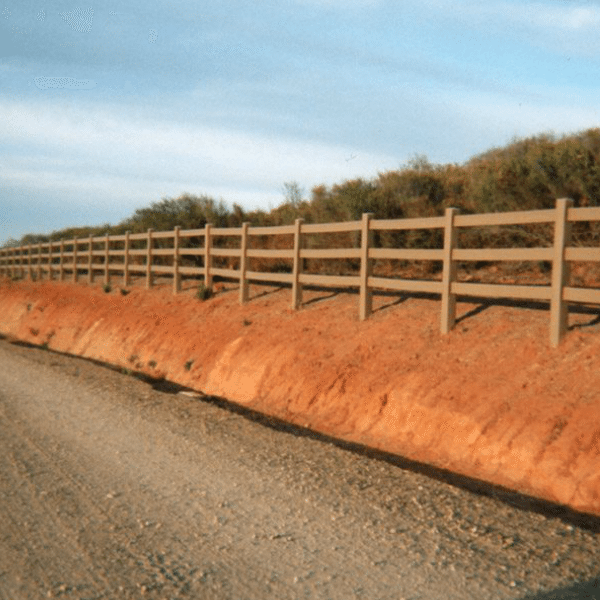 3-Rail Tan Fence