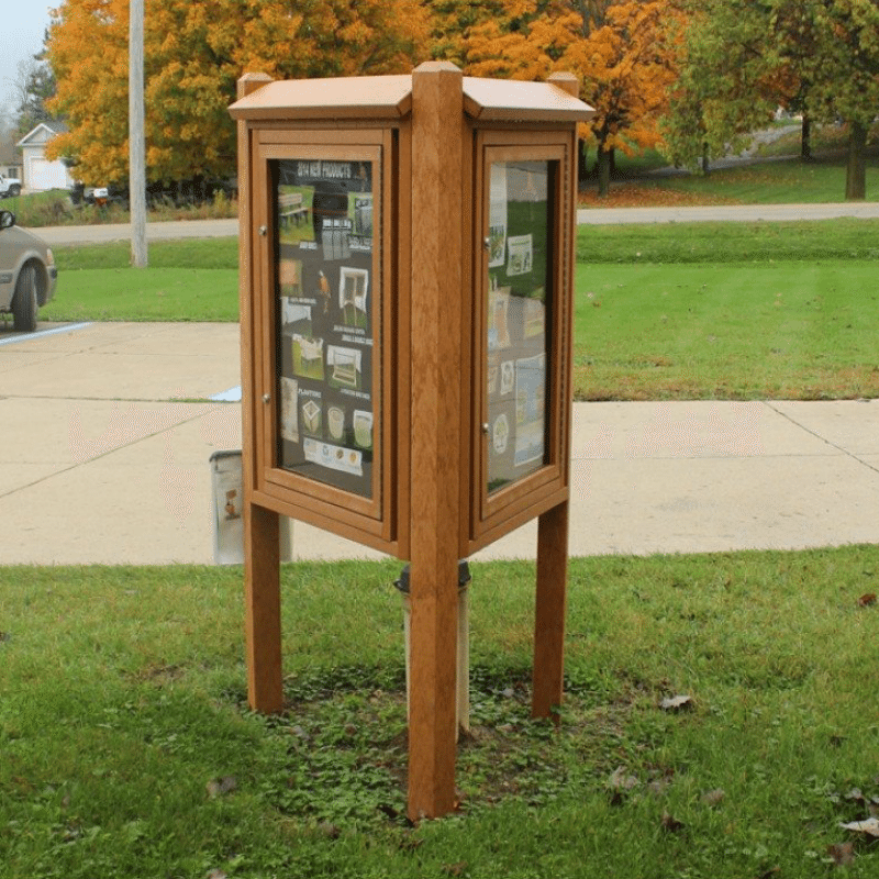 Three-Sided Kiosk