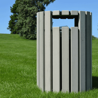 Trash Receptacle – Side Openings
