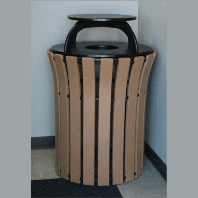 33 Gallon Receptacle Flare Top With Rain Cap
