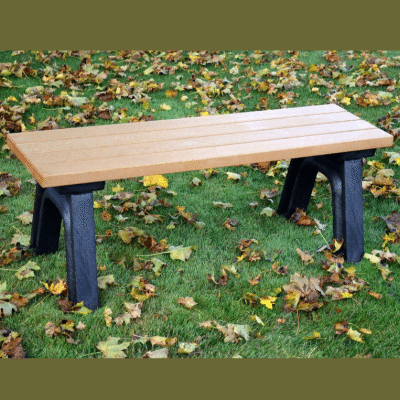 4 Foot Deluxe Mall Bench Made From Recycled Plastic Materials