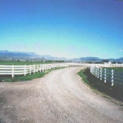 4-Rail White Fence