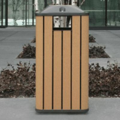 Trash Bin With 2 Side Fill Openings