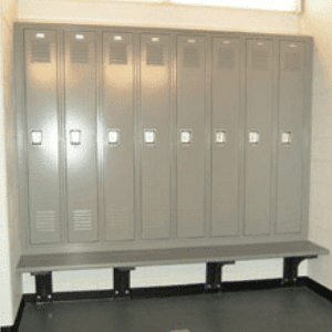 Wall Mounted Referee Locker Room Bench