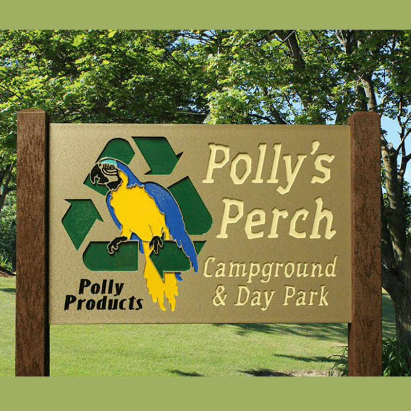 Polly's Perch Sign