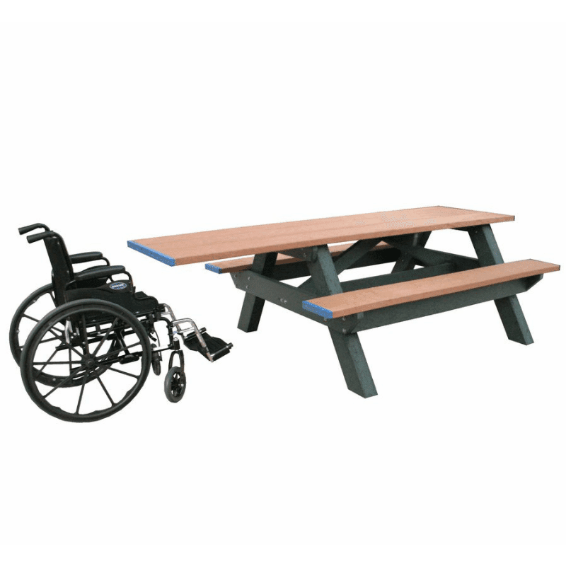 ADAAccessible Standard Picnic Table Preservation Materials - Ada picnic table requirements
