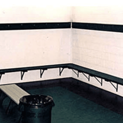Wall-Mounted Locker Room Benches