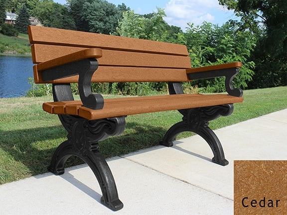 Stupendous 4 Cambridge Bench With Arms Preservation Materials Machost Co Dining Chair Design Ideas Machostcouk